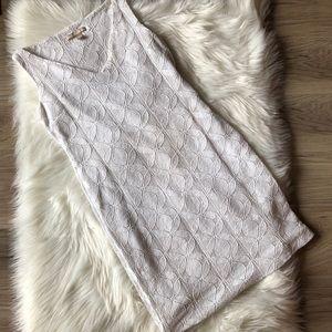 Banana Republic White Dress Lace Floral Design Sz2